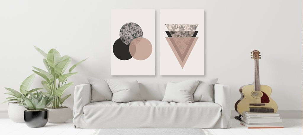 Escoge un cuadro a tono con tu diseño minimalista, decoración minimalista
