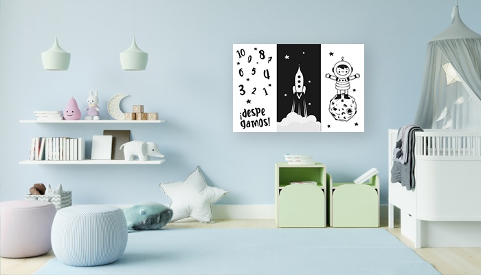 Nuestras propuestas de cuadros decorativos para cuarto de bebé,Portada