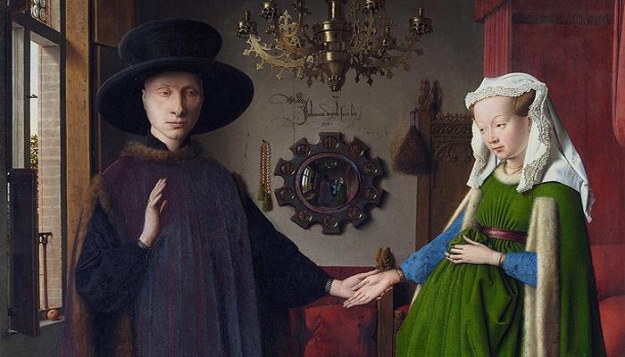 Retrato de Giovanni Arnolfini y su esposa, Portada