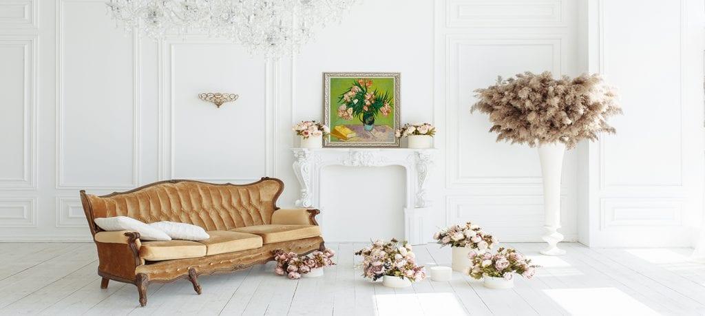 1.-Pinta tus paredes de blanco, decoración de estilo clásico