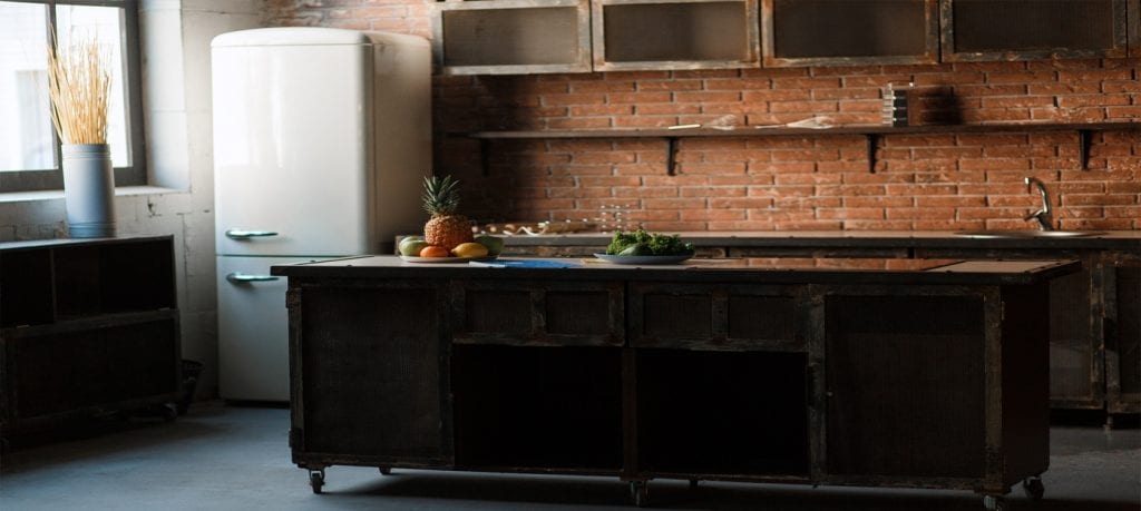 3.-Muebles funcionales,decoración estilo industrial