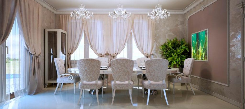 5.-La riqueza de las telas, decoración de estilo clásico