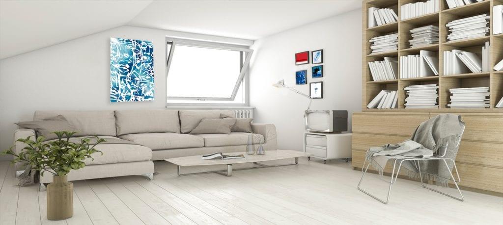 6.-Muestra los cuadros que van con tu personalidad, decoración de estilo ecléctico