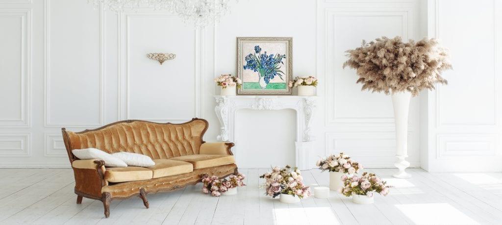 Canvas con marco para un estilo clásico, cuadros decorativos