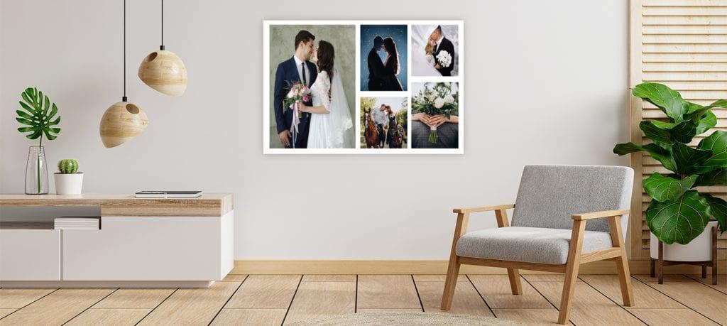 Diseña un creativo Collage con fotografías de tu boda