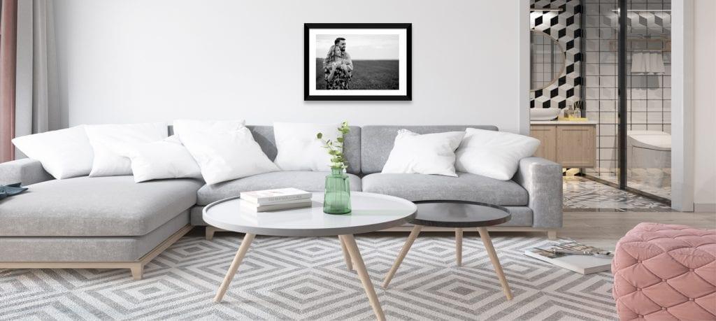 Enmarca una foto estilo artística en blanco y negro